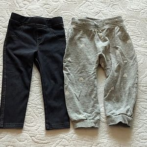 Girls 18m bundle of lounge pants and leggings